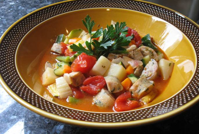 Chicken Sausage and Vegetable Stew