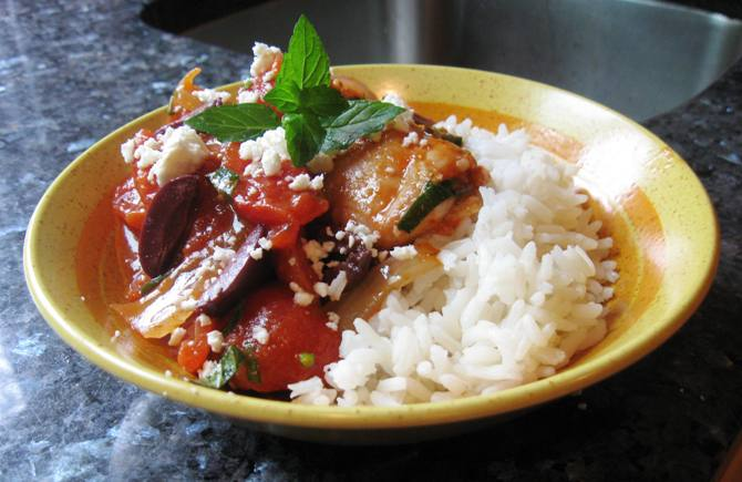 slow cooked greek chicken