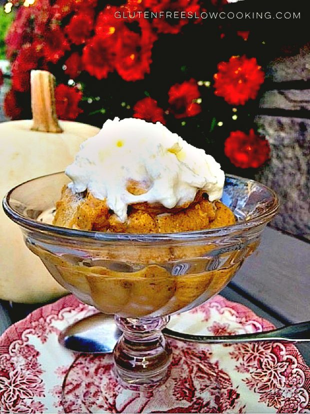 Slow cooked pumpkin pudding