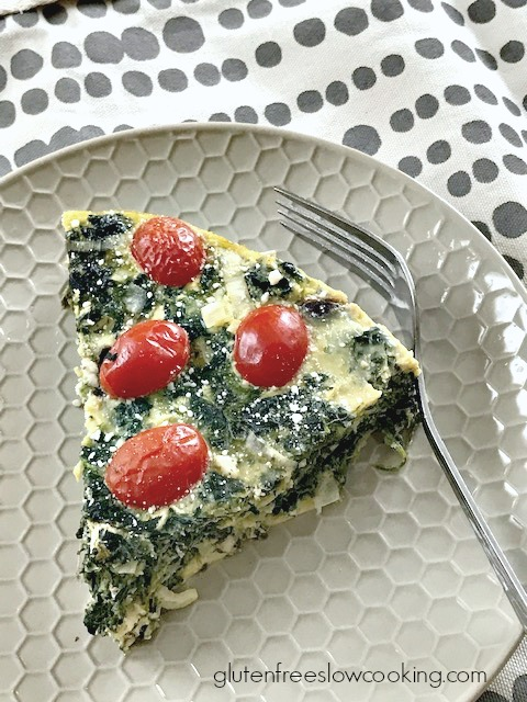 Slow cooker spinach pie